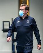 22 June 2020; Academy physiotherapist Brendan O'Connell during a Leinster rugby gym session at UCD in Dublin. Rugby teams have been approved for return of restricted training under IRFU and the Irish Government's Roadmap for Reopening of Society and Business following strict protocols of social distancing and hand sanitisation among other measures allowing it to return in a phased manner, having been suspended since March due to the Irish Government's efforts to contain the spread of the Coronavirus (COVID-19) pandemic. Photo by Marcus Ó Buachalla for Leinster Rugby via Sportsfile