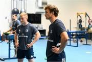 22 June 2020; Josh van der Flier during a Leinster rugby gym session at UCD in Dublin. Rugby teams have been approved for return of restricted training under IRFU and the Irish Government's Roadmap for Reopening of Society and Business following strict protocols of social distancing and hand sanitisation among other measures allowing it to return in a phased manner, having been suspended since March due to the Irish Government's efforts to contain the spread of the Coronavirus (COVID-19) pandemic. Photo by Conor Sharkey for Leinster Rugby via Sportsfile