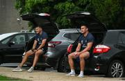 22 June 2020; Ross Molony, left, and Rónan Kelleher prepare for Leinster rugby squad training at UCD in Dublin. Rugby teams have been approved for return of restricted training under IRFU and the Irish Government's Roadmap for Reopening of Society and Business following strict protocols of social distancing and hand sanitisation among other measures allowing it to return in a phased manner, having been suspended since March due to the Irish Government's efforts to contain the spread of the Coronavirus (COVID-19) pandemic. Photo by Marcus Ó Buachalla for Leinster Rugby via Sportsfile