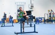 22 June 2020; Scott Penny during a Leinster rugby gym session at UCD in Dublin. Rugby teams have been approved for return of restricted training under IRFU and the Irish Government's Roadmap for Reopening of Society and Business following strict protocols of social distancing and hand sanitisation among other measures allowing it to return in a phased manner, having been suspended since March due to the Irish Government's efforts to contain the spread of the Coronavirus (COVID-19) pandemic. Photo by Marcus Ó Buachalla for Leinster Rugby via Sportsfile