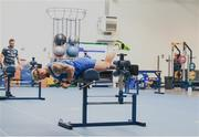 22 June 2020; Andrew Porter during a Leinster rugby gym session at UCD in Dublin. Rugby teams have been approved for return of restricted training under IRFU and the Irish Government's Roadmap for Reopening of Society and Business following strict protocols of social distancing and hand sanitisation among other measures allowing it to return in a phased manner, having been suspended since March due to the Irish Government's efforts to contain the spread of the Coronavirus (COVID-19) pandemic. Photo by Marcus Ó Buachalla for Leinster Rugby via Sportsfile