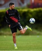 23 June 2020; Jordan Flores during a Dundalk training session at Oriel Park in Dundalk, Louth. Following approval from the Football Association of Ireland and the Irish Government, the four European qualified SSE Airtricity League teams resumed collective training. On March 12, the FAI announced the cessation of all football under their jurisdiction upon directives from the Irish Government, the Department of Health and UEFA, due to the outbreak of the Coronavirus (COVID-19) pandemic. Photo by Ben McShane/Sportsfile