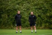 23 June 2020; Manager Vinny Perth, left, with newly appointed assistant manager Alan Reynolds during a Dundalk training session at Oriel Park in Dundalk, Louth. Following approval from the Football Association of Ireland and the Irish Government, the four European qualified SSE Airtricity League teams resumed collective training. On March 12, the FAI announced the cessation of all football under their jurisdiction upon directives from the Irish Government, the Department of Health and UEFA, due to the outbreak of the Coronavirus (COVID-19) pandemic. Photo by Ben McShane/Sportsfile
