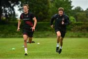 23 June 2020; Taner Dogan, left, and Josh Gatt during a Dundalk training session at Oriel Park in Dundalk, Louth. Following approval from the Football Association of Ireland and the Irish Government, the four European qualified SSE Airtricity League teams resumed collective training. On March 12, the FAI announced the cessation of all football under their jurisdiction upon directives from the Irish Government, the Department of Health and UEFA, due to the outbreak of the Coronavirus (COVID-19) pandemic. Photo by Ben McShane/Sportsfile