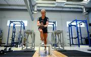 23 June 2020; Republic of Ireland international Chloe Mustaki during a rehabilitation session at the Sport Ireland Campus in Dublin following an ACL operation after picking up an injury during a Republic of Ireland women's team training session in March. Photo by Stephen McCarthy/Sportsfile