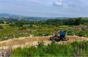24 June 2020; Enduro mountain bike rider and Red Bull athlete, Greg Callaghan takes his local trails at Glencullen Adventure Park in Dublin, by storm as he returns to training. Photo by Ramsey Cardy/Sportsfile