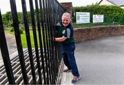 24 June 2020; Moorefield Senior Football kitman Johnny Doyle opens the gate ahead of a Moorefield Senior Football Squad training session at Moorefield GAA club in Newbridge, Kildare. Following approval from the GAA and the Irish Government, the GAA released its safe return to play protocols, allowing pitches to be opened for non contact training on 24 June and for training and challenge games to resume from 29 June. On March 25, the GAA announced the cessation of all GAA activities and closures of all GAA facilities under their jurisdiction upon directives from the Irish Government in an effort to contain the Coronavirus (COVID-19) pandemic. Photo by Piaras Ó Mídheach/Sportsfile