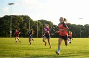 24 June 2020; Siobhán Killeen, right, with team-mates during a Clontarf GAA Club training session at St Anne's Park in Clontarf, Dublin. Following approval from the GAA and the Irish Government, the GAA released its safe return to play protocols, allowing pitches to be opened for non contact training on 24 June and for training and challenge games to resume from 29 June. On March 25, the GAA announced the cessation of all GAA activities and closures of all GAA facilities under their jurisdiction upon directives from the Irish Government in an effort to contain the Coronavirus (COVID-19) pandemic. Photo by David Fitzgerald/Sportsfile