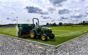 25 June 2020; A general view of pitch works underway at the new 4G pitch at the Connacht GAA Centre in Bekan, Claremorris, Mayo. Photo by Piaras Ó Mídheach/Sportsfile