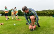 25 June 2020; Michael Murphy during a Glenswilly GAA Club training session at Glenkerragh in Donegal. Following approval from the GAA and the Irish Government, the GAA released its safe return to play protocols, allowing pitches to be opened for non contact training on 24 June and for training and challenge games to resume from 29 June. On March 25, the GAA announced the cessation of all GAA activities and closures of all GAA facilities under their jurisdiction upon directives from the Irish Government in an effort to contain the Coronavirus (COVID-19) pandemic. Photo by Oliver McVeigh/Sportsfile