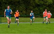 25 June 2020; Michael Murphy, left, with his team-mates during a Glenswilly GAA Club training session at Glenkerragh in Donegal. Following approval from the GAA and the Irish Government, the GAA released its safe return to play protocols, allowing pitches to be opened for non contact training on 24 June and for training and challenge games to resume from 29 June. On March 25, the GAA announced the cessation of all GAA activities and closures of all GAA facilities under their jurisdiction upon directives from the Irish Government in an effort to contain the Coronavirus (COVID-19) pandemic. Photo by Oliver McVeigh/Sportsfile