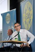 26 June 2020; Fergal McGill, Director of Player, Club & Games Administration, during the GAA fixtures press conference at Croke Park in Dublin. The GAA announced that inter-county fixtures will resume on October 17. Following approval from the GAA and the Irish Government, the GAA released its safe return to play protocols, allowing pitches to be opened for training and challenge games from 29 June. On March 25, the GAA announced the cessation of all GAA activities and closures of all GAA facilities under their jurisdiction upon directives from the Irish Government in an effort to contain the Coronavirus (COVID-19) pandemic. Photo by Ramsey Cardy/Sportsfile