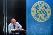 26 June 2020; Uachtarán Chumann Lúthchleas Gael John Horan, makes the draw for the Nicky Rackard Cup during the GAA fixtures press conference at Croke Park in Dublin. The GAA announced that inter-county fixtures will resume on October 17. Following approval from the GAA and the Irish Government, the GAA released its safe return to play protocols, allowing pitches to be opened for training and challenge games from 29 June. On March 25, the GAA announced the cessation of all GAA activities and closures of all GAA facilities under their jurisdiction upon directives from the Irish Government in an effort to contain the Coronavirus (COVID-19) pandemic. Photo by Ramsey Cardy/Sportsfile