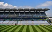 26 June 2020; A general view of Croke Park in Dublin. The GAA announced that inter-county fixtures will resume on October 17. Following approval from the GAA and the Irish Government, the GAA released its safe return to play protocols, allowing pitches to be opened for training and challenge games from 29 June. On March 25, the GAA announced the cessation of all GAA activities and closures of all GAA facilities under their jurisdiction upon directives from the Irish Government in an effort to contain the Coronavirus (COVID-19) pandemic. Photo by Ramsey Cardy/Sportsfile