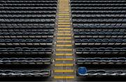 26 June 2020; A general view of empty seats at Croke Park in Dublin. The GAA announced that inter-county fixtures will resume on October 17. Following approval from the GAA and the Irish Government, the GAA released its safe return to play protocols, allowing pitches to be opened for training and challenge games from 29 June. On March 25, the GAA announced the cessation of all GAA activities and closures of all GAA facilities under their jurisdiction upon directives from the Irish Government in an effort to contain the Coronavirus (COVID-19) pandemic. Photo by Ramsey Cardy/Sportsfile