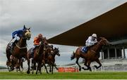26 June 2020; Bearberry, right, with Shane Foley up, pass the post to win the Irish Stallion Farms EBF Fillies Maiden during day one of the Dubai Duty Free Irish Derby Festival at The Curragh Racecourse in Kildare. Horse Racing continues behind closed doors following strict protocols having been suspended from March 25 due to the Irish Government's efforts to contain the spread of the Coronavirus (COVID-19) pandemic. Photo by Harry Murphy/Sportsfile
