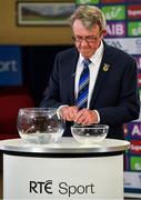 26 June 2020; Chairman of the Munster Council of the GAA Liam Lenihan during the Munster Championship Draws at Leinster Council offices on Mountmellick Road in Portlaoise, Laois. The GAA have announced that inter-county fixtures will resume with the final rounds of the Allianz Leagues on 17/18 October and the Munster and Leinster Hurling Championships on 24/25 October and Provincial Football Championships on weekend of 31October/1 November culminating with the All-Ireland Senior Hurling and Football Finals in December. On March 25, the GAA announced the cessation of all GAA activities and closures of all GAA facilities under their jurisdiction upon directives from the Irish Government in an effort to contain the Coronavirus (COVID-19) pandemic. Photo by Brendan Moran/Sportsfile