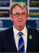 26 June 2020; Chairman of the Munster Council of the GAA Liam Lenihan during the Munster Hurling Championship Draw at Leinster Council offices on Mountmellick Road in Portlaoise, Laois. The GAA have announced that inter-county fixtures will resume with the final rounds of the Allianz Leagues on 17/18 October and the Munster and Leinster Hurling Championships on 24/25 October and Provincial Football Championships on weekend of 31October/1 November culminating with the All-Ireland Senior Hurling and Football Finals in December. On March 25, the GAA announced the cessation of all GAA activities and closures of all GAA facilities under their jurisdiction upon directives from the Irish Government in an effort to contain the Coronavirus (COVID-19) pandemic. Photo by Brendan Moran/Sportsfile