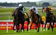 27 June 2020; Ancient Surprise, left, with Shane Foley up, on their way to winning the Dubai Duty Free Finest Surprise Celebration Stakes during day two of the Dubai Duty Free Irish Derby Festival at The Curragh Racecourse in Kildare. Horse Racing continues behind closed doors following strict protocols having been suspended from March 25 due to the Irish Government's efforts to contain the spread of the Coronavirus (COVID-19) pandemic. Photo by Seb Daly/Sportsfile