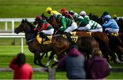 27 June 2020; Runners and riders at the start of the Dubai Duty Free Millennium Millionaire Handicap during day two of the Dubai Duty Free Irish Derby Festival at The Curragh Racecourse in Kildare. Horse Racing continues behind closed doors following strict protocols having been suspended from March 25 due to the Irish Government's efforts to contain the spread of the Coronavirus (COVID-19) pandemic. Photo by Harry Murphy/Sportsfile