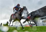 27 June 2020; Santiago, left, with Seamie Heffernan up, crosses the line ahead of second place Tiger Moth, with Emmet McNamara up, to win the Dubai Duty Free Irish Derby during day two of the Dubai Duty Free Irish Derby Festival at The Curragh Racecourse in Kildare. Horse Racing continues behind closed doors following strict protocols having been suspended from March 25 due to the Irish Government's efforts to contain the spread of the Coronavirus (COVID-19) pandemic. Photo by Seb Daly/Sportsfile