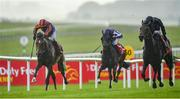 27 June 2020; Santiago, left, with Seamie Heffernan up, races along side eventual second place Tiger Moth, with Emmet McNamara up, to their way to winning the Dubai Duty Free Irish Derby during day two of the Dubai Duty Free Irish Derby Festival at The Curragh Racecourse in Kildare. Horse Racing continues behind closed doors following strict protocols having been suspended from March 25 due to the Irish Government's efforts to contain the spread of the Coronavirus (COVID-19) pandemic. Photo by Seb Daly/Sportsfile