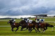 27 June 2020; A general view of runners and riders during the Comer Group International Vintage Crop Stakes during day two of the Dubai Duty Free Irish Derby Festival at The Curragh Racecourse in Kildare. Horse Racing continues behind closed doors following strict protocols having been suspended from March 25 due to the Irish Government's efforts to contain the spread of the Coronavirus (COVID-19) pandemic. Photo by Harry Murphy/Sportsfile