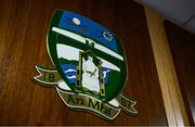 26 June 2020; The crest of Meath GAA is seen in the Leinster GAA Council offices on Mountmellick Road in Portlaoise, Laois. Photo by Brendan Moran/Sportsfile