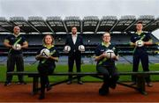 29 June 2020; Pitch Perfect! Tour Guides at the GAA Museum and Tours at Croke Park celebrate their reopening, pictured from left, Cian Nolan, Magda Constantanescu, Paul Cashin, GAA Museum Front of House Manager and former Carlow Football Captain, Siobhan Doyle and Eoin O'Connor. The inspiring Stadium Tour, thrilling Skyline Tour and treasured GAA Museum are now open to the public.  With the GAA All-Ireland Senior Championships postponed until October, this is your only chance to visit Croke Park this summer, making them this season's hottest tickets!  For more see www.crokepark.ie/tours. Photo by Ramsey Cardy/Sportsfile