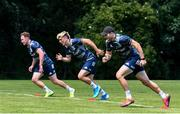 29 June 2020; Robbie Henshaw, right, Jimmy O'Brien, centre, and Rory O'Loughlin during Leinster rugby squad training at UCD in Dublin. Rugby teams have been approved for return of restricted training under IRFU and the Irish Government's Roadmap for Reopening of Society and Business following strict protocols allowing it to return in a phased manner, having been suspended since March due to the Irish Government's efforts to contain the spread of the Coronavirus (COVID-19) pandemic. Photo by Marcus Ó Buachalla for Leinster Rugby via Sportsfile