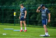 29 June 2020; Garry Ringrose, left, and Fergus McFadden during Leinster rugby squad training at UCD in Dublin. Rugby teams have been approved for return of restricted training under IRFU and the Irish Government's Roadmap for Reopening of Society and Business following strict protocols allowing it to return in a phased manner, having been suspended since March due to the Irish Government's efforts to contain the spread of the Coronavirus (COVID-19) pandemic. Photo by Marcus Ó Buachalla for Leinster Rugby via Sportsfile