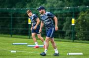 29 June 2020; Fergus McFadden during Leinster rugby squad training at UCD in Dublin. Rugby teams have been approved for return of restricted training under IRFU and the Irish Government's Roadmap for Reopening of Society and Business following strict protocols allowing it to return in a phased manner, having been suspended since March due to the Irish Government's efforts to contain the spread of the Coronavirus (COVID-19) pandemic. Photo by Marcus Ó Buachalla for Leinster Rugby via Sportsfile