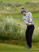 29 June 2020; Stuart Grehan pitches onto the first green during the Flogas Irish Scratch Series at the Seapoint Golf Club in Termonfeckin, Louth. Photo by Matt Browne/Sportsfile