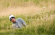 29 June 2020; Chris Watt playes from a bunker onto the12th green during the Flogas Irish Scratch Series at the Seapoint Golf Club in Termonfeckin, Louth. Photo by Matt Browne/Sportsfile