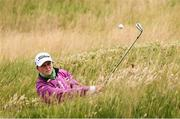 29 June 2020; Leah Temple Lang plays from a bunker onto the12th green during the Flogas Irish Scratch Series at the Seapoint Golf Club in Termonfeckin, Louth. Photo by Matt Browne/Sportsfile