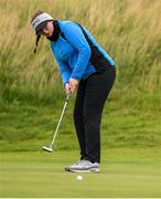 29 June 2020; Tara Laverty watches her putt on the 13th green during the Flogas Irish Scratch Series at the Seapoint Golf Club in Termonfeckin, Louth. Photo by Matt Browne/Sportsfile