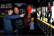 29 June 2020; The Davis family, from left, Dylan aged 17, Gary, Tara and Ethan, aged 7, from Kinnegad in Westmeath enjoy the reopened GAA Museum at Croke Park. The inspiring Stadium Tour, thrilling Skyline Tour and treasured GAA Museum are now open to the public. With the GAA All-Ireland Senior Championships postponed until October, this is your only chance to visit Croke Park this summer, making them this season's hottest tickets! For more see www.crokepark.ie/tours. Photo by Sam Barnes/Sportsfile