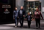 29 June 2020; The Davis family, from left, Dylan aged 17, Gary, Ethan, aged 7 and Tara Davis, from Kinnegad in Westmeath walk though the reopened GAA Museum at Croke Park. The inspiring Stadium Tour, thrilling Skyline Tour and treasured GAA Museum are now open to the public. With the GAA All-Ireland Senior Championships postponed until October, this is your only chance to visit Croke Park this summer, making them this season's hottest tickets! For more see www.crokepark.ie/tours. Photo by Sam Barnes/Sportsfile