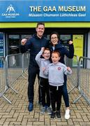 29 June 2020; The Gribbin family, clockwise from left, Michael, Siobhan, and Twins, Daniel and Thomas, aged 7, from Castledawson in Derry, celebrate being one of the first families to visit after the reopening of the GAA Museum and Tours at Croke Park. The inspiring Stadium Tour, thrilling Skyline Tour and treasured GAA Museum are now open to the public. With the GAA All-Ireland Senior Championships postponed until October, this is your only chance to visit Croke Park this summer, making them this season's hottest tickets! For more see www.crokepark.ie/tours Photo by Sam Barnes/Sportsfile