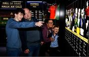 29 June 2020; The Davis family, from left, Dylan aged 17, Gary, Tara and Ethan, aged 7, from Kinnegad in Westmeath enjoy the the reopened GAA Museum at Croke Park. The inspiring Stadium Tour, thrilling Skyline Tour and treasured GAA Museum are now open to the public. With the GAA All-Ireland Senior Championships postponed until October, this is your only chance to visit Croke Park this summer, making them this season's hottest tickets! For more see www.crokepark.ie/tours. Photo by Sam Barnes/Sportsfile