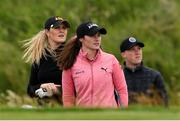 29 June 2020; Leona Maguire and Olivia Mehaffey at the first during the Flogas Irish Scratch Series at the Seapoint Golf Club in Termonfeckin, Louth. Photo by Matt Browne/Sportsfile