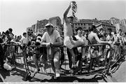 25 June 1990; Republic of Ireland supporters queue for match tickets prior to the FIFA World Cup 1990 Round of 16 match between Republic of Ireland and Romania at the Stadio Luigi Ferraris in Genoa, Italy. Photo by Ray McManus/Sportsfile