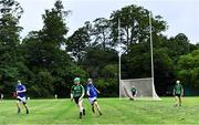 30 June 2020; A general view of the action during the Junior B Hurling Challenge game between St Sylvester's and St Patrick's Donabate at Malahide Castle Pitches in Dublin. Photo by Piaras Ó Mídheach/Sportsfile