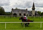 2 July 2020; Aloha Star, near, with Andrew Slattery up, races alongside eventual second place Logo Hunter, behind, with Colin Keane up, on their way to winning the Irish Stallion Farms EBF Maiden at Bellewstown Racecourse in Collierstown, Meath. Horse Racing continues behind closed doors following strict protocols having been suspended from March 25 due to the Irish Government's efforts to contain the spread of the Coronavirus (COVID-19) pandemic. Photo by Seb Daly/Sportsfile