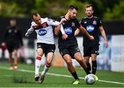 3 July 2020; Jordan Flores, right, in action against Stefan Colovic during a Dundalk training match at Oriel Park in Dundalk, Louth. Photo by Ben McShane/Sportsfile
