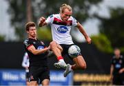 3 July 2020; Greg Sloggett, right, in action against Josh Gatt during a Dundalk training match at Oriel Park in Dundalk, Louth. Photo by Ben McShane/Sportsfile