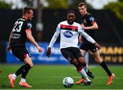 3 July 2020; Nathan Oduwa, centre, in action against Cameron Dummigan, left, and Daniel Kelly during a Dundalk training match at Oriel Park in Dundalk, Louth. Photo by Ben McShane/Sportsfile