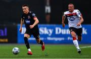 3 July 2020; Darragh Leahy, left, and John Mountney during a Dundalk training match at Oriel Park in Dundalk, Louth. Photo by Ben McShane/Sportsfile