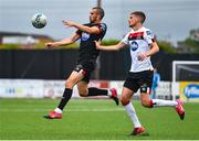 3 July 2020; Michael Duffy, left, in action against Sean Gannon during a Dundalk training match at Oriel Park in Dundalk, Louth. Photo by Ben McShane/Sportsfile