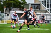 3 July 2020; Michael Duffy, left, in action against Taner Dogan during a Dundalk training match at Oriel Park in Dundalk, Louth. Photo by Ben McShane/Sportsfile